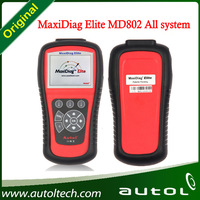 Original Maxidiag Elite MD802 Code Reader Autel MD802 All System/4 System One Year Warranty