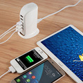 UK/US/EU Plug Outdoor Travel 5 Port USB Wall Charger Multiple Devices 30W 4A For Cell Phone