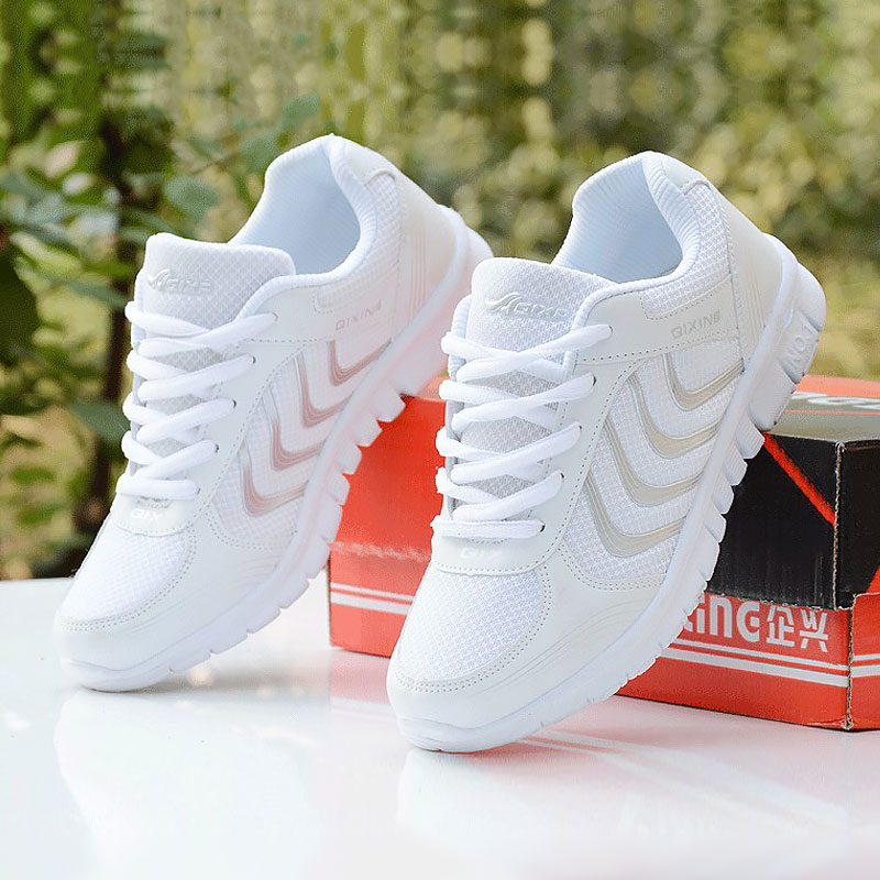 Sneakers Women 2019 New Fashion Summer Mesh Breathable Female Shoes Woman Tenis Feminino Lace-up Flats Women Shoes Basket Femme(China)
