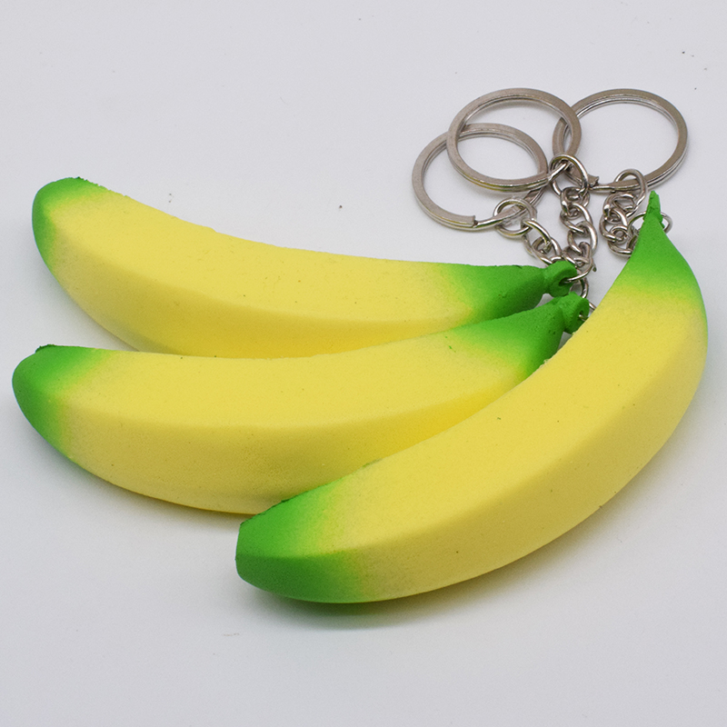 10cm Squishy Antistress Banana Keychain Toys For Children Slow Rising Squichy Toy 2018 Gadgets Stress Relief Entertainment Props