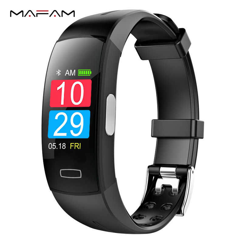 MAFAM ECG PPG Smart Bracelet Fitness Pedometer Calories Heart Rate Blood Pressure Smart Watch Bracelet Wristband For Men Women