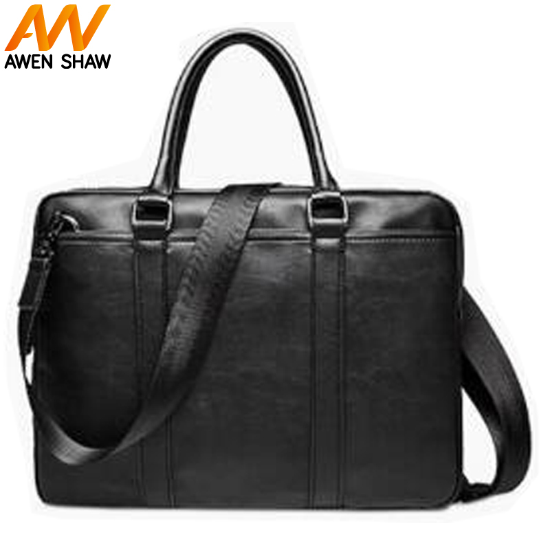 New Arrival Simple Design Classical Shoulder Bag Man PU Leather With Fashion Elegant Big Capacity Waterproof Business Briefcase