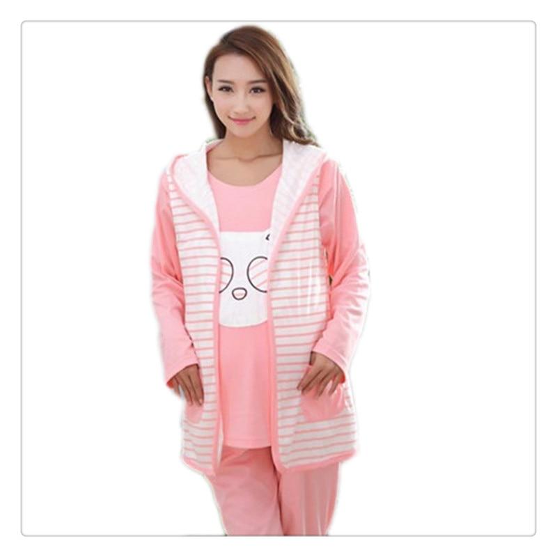 ᗕCotton Maternity Sleepwear Set Fall © Pregnant Pregnant ...