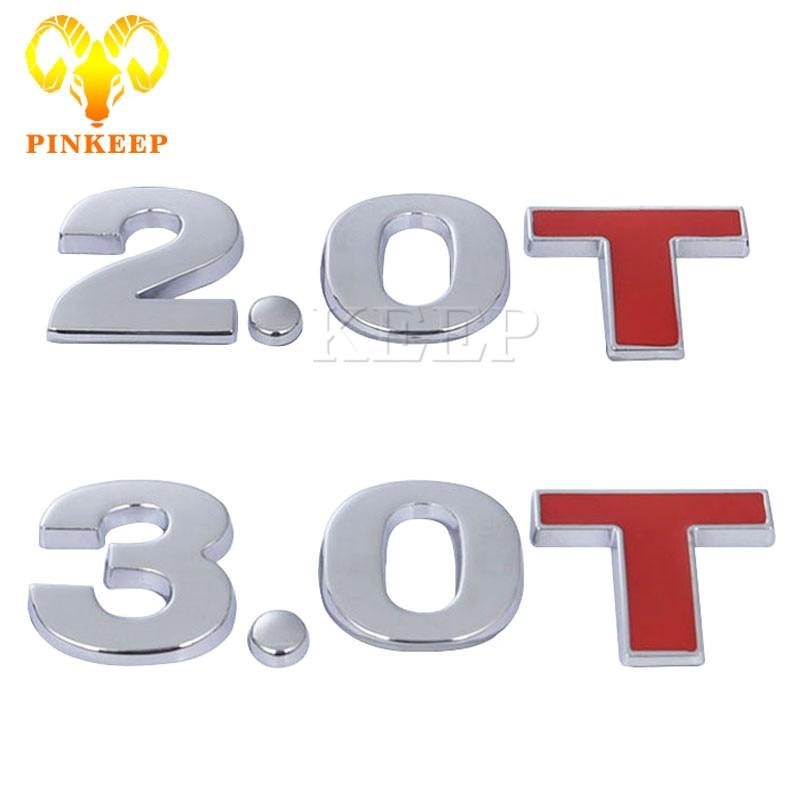 Car Sticker 2 0 3 0 T Logo Auto Tail Badge Rear Trunk Emblem For Bmw