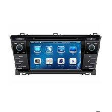 """7 """"in-dash Car DVD player con GPS (opzionale), audio Radio stereo, USB/SD, AUX, BT/TV, auto multimedia headunit per TOYOTA COROLLA 2014"""
