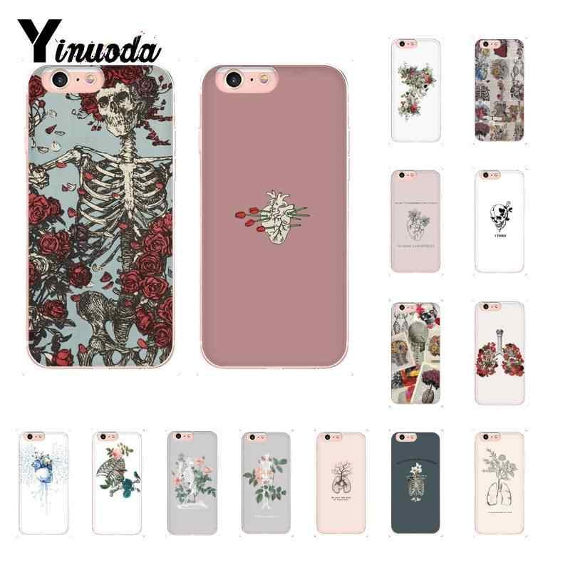 Yinuoda Art Beautiful Tumblr New Aesthetic Skull Floar Phonecase for iPhone8 7 6 6S Plus 5 5S SE XR X XSMAX 10 11 11pro 11promax
