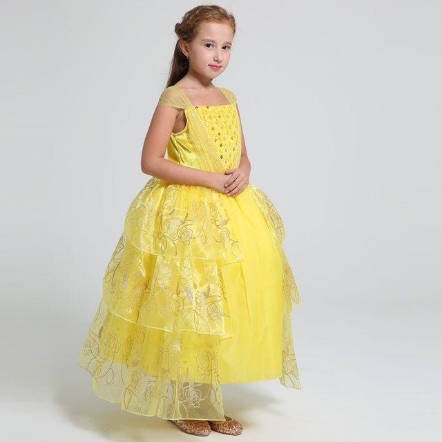 Online Shop Summer 2017 movie Belle costume kids sweet princess ...