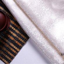 Высокое качество парча жаккард полиэстер белый фон хвост Феникс