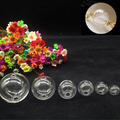500pieces Clear Sphere Dome Glass Bottle DIY Terrarium double hole on bottom, diy glass ball globe vial necklace jewelry pendant