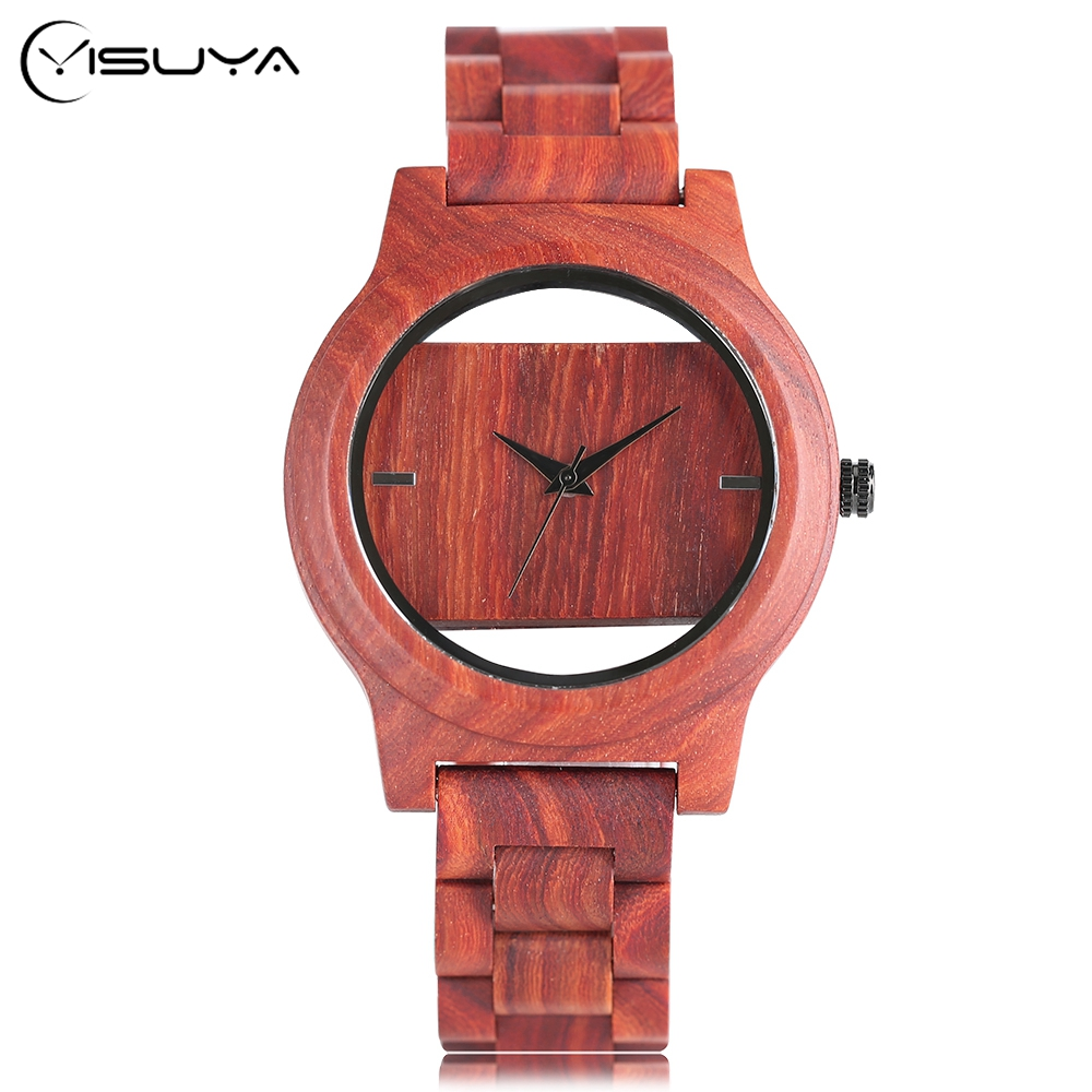 Full Bamboo Wood Ladies Watches Natural Quartz Wrist Watch Men Women Clock With Bamboo Band Special Hollow Trendy Dress unique hollow dial men women natural wood watch with full wooden bamboo bangle quartz wristwatch novel handmade clock gifts item