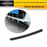 Carbon Fiber Front Lip Auto Car Lip Spoiler For Audi A4 B8 Standard Bumper Only 2009 2012