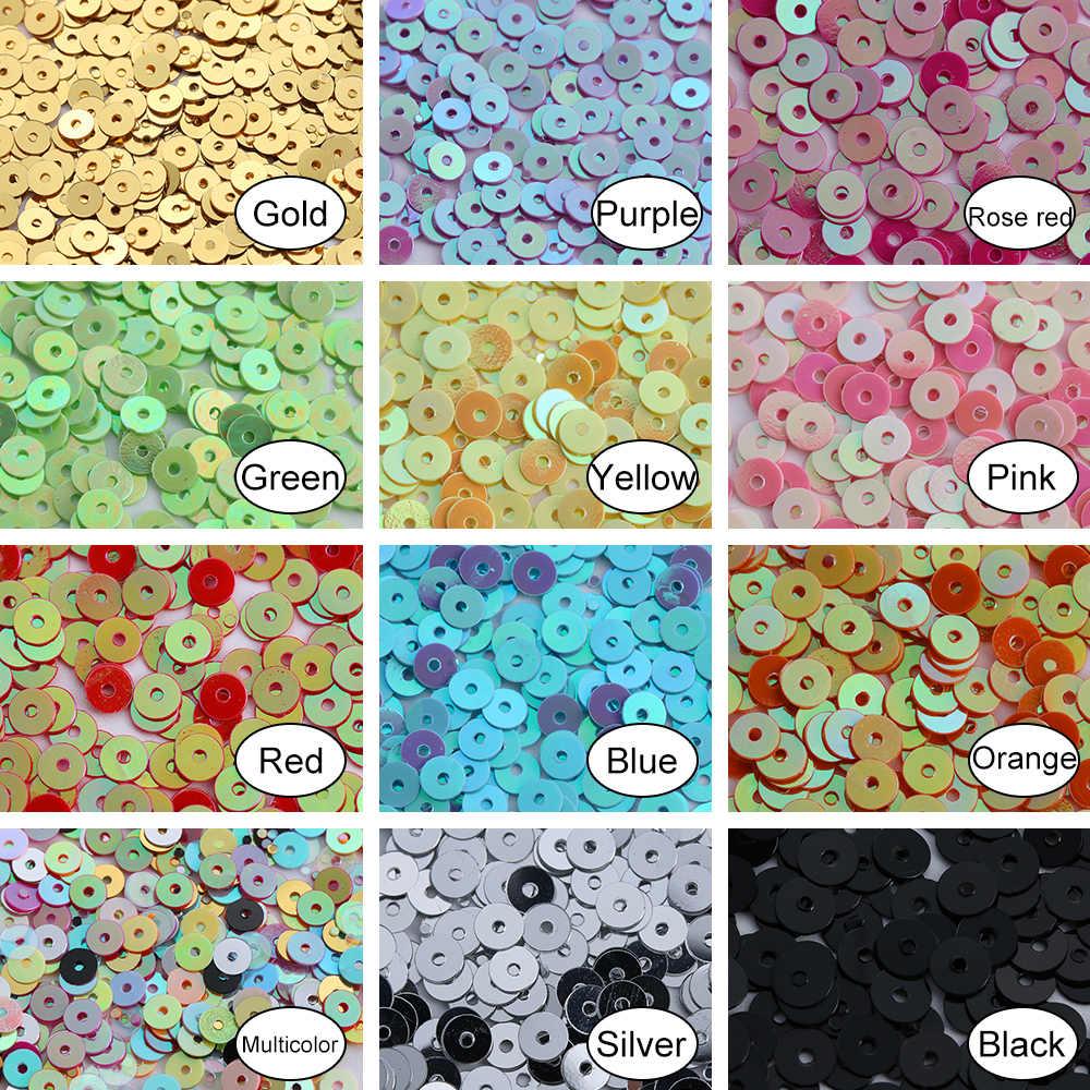 1000 Pcs/bag Baru 4 Mm Multicolor Plastik Longgar Payet untuk Rumah Pesta Pernikahan Dekorasi Perhiasan DIY Kerajinan Jahit Aksesoris