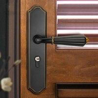 Modern American Bedroom Mortise Handle Door Lock Security Entry Split Silent Lock Core Furniture Indoor Door Handle Lock Set