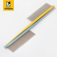 KIMHOME PET Pet Hair Trimmer Comb Dog Cat Grooming Dressed Hair Anti Static Combs Straight Stainless