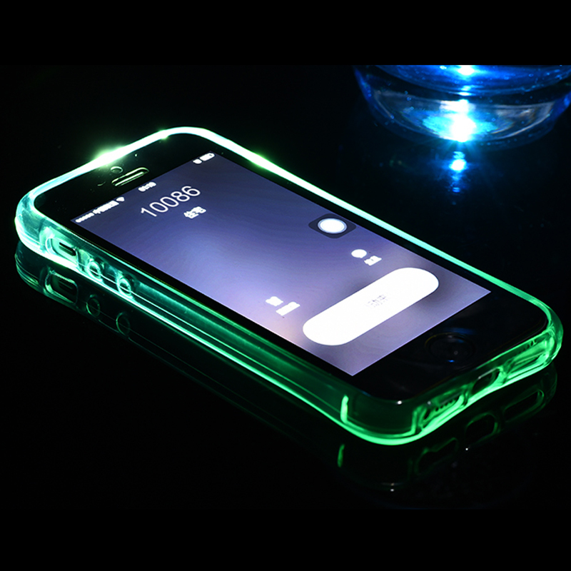 new style 62a72 e565c US $1.89 5% OFF|GYKZ Drop Resistance LED Flash Luminous Calls Cases For  iphone X 6 6s 7 Plus Back Cover Case For iphone 8 7 Plus 5s SE Fundas-in ...