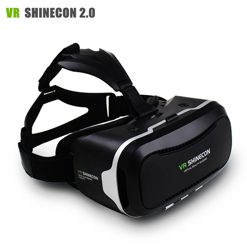 <font><b>VR</b></font> <font><b>Shinecon</b></font> II 2 <font><b>Virtual</b></font> <font><b>Reality</b></font> Goggles Headset 3D <font><b>IMAX</b></font> <font><b>Video</b></font> Movie Game Glasses Private Theater for 4.7 - 6 inch Mobile Phones