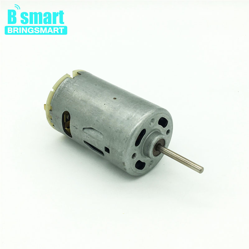 Bringsmart RS-555SA Micro High Speed DC Motor 12V 5300rpm Shaft 28mm Small Electric Motor 12 Volt a58sw31zys12 volt 220v powerful dc small motor output shaft gear electric toys 12v permanent generator tubular micro retifica