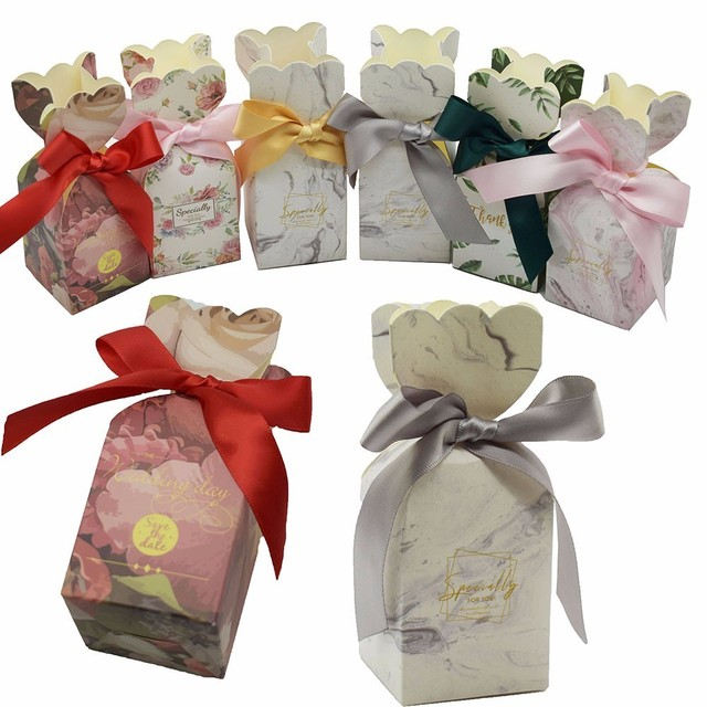 Aliexpress Buy Wedding Favors And Gifts Box Paper Candy Boxes