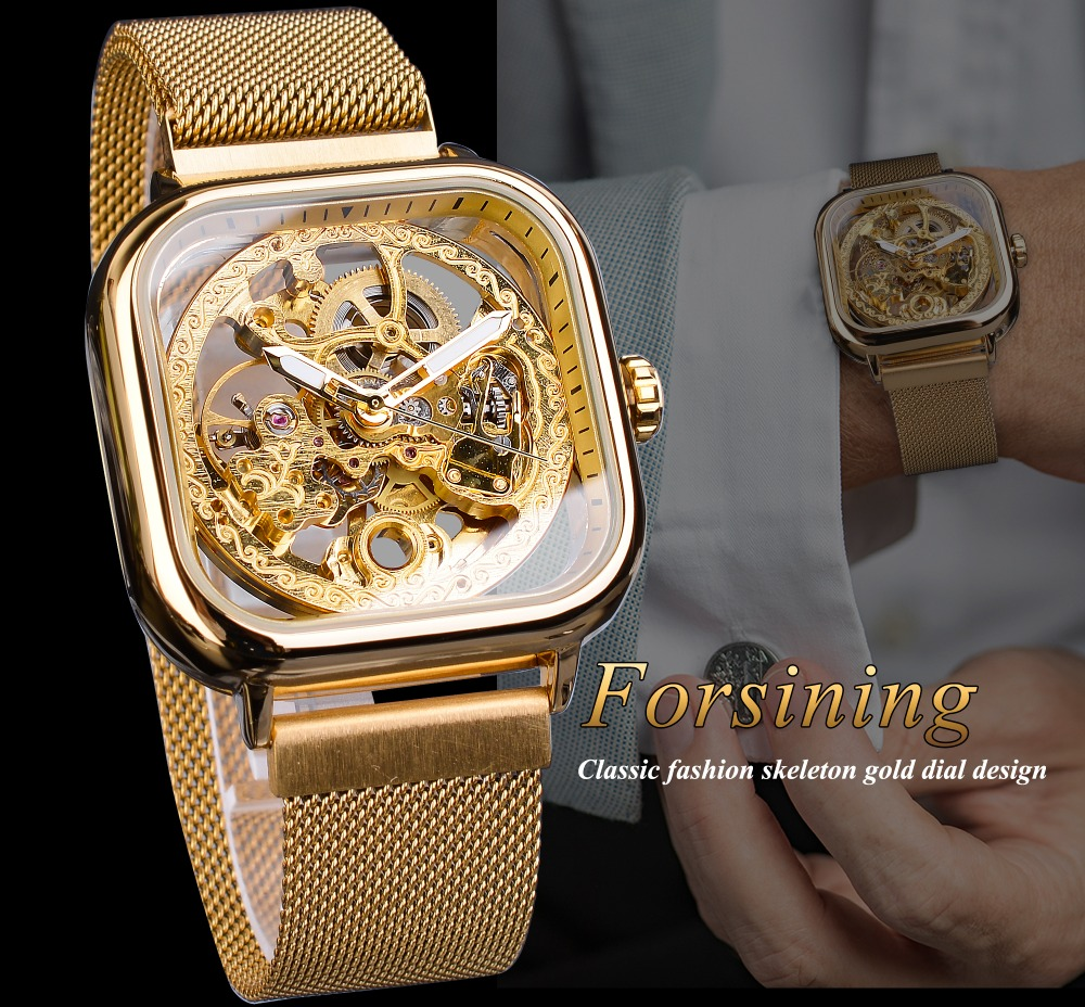HTB1JReadW5s3KVjSZFNq6AD3FXaL Forsining Men Mechanical Watches Automatic Self-Wind Golden Transparent Fashion Mesh Steel Wristwatch Skeleton Man Male Hot Hour