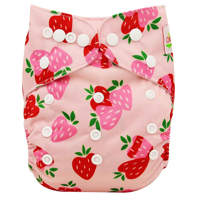 Ohbabyka Baby Diapers Couches Lavables Washable Cloth Diaper Cover Wrap Cartoon Print Baby Nappy Changing Reusable Pocket Diaper