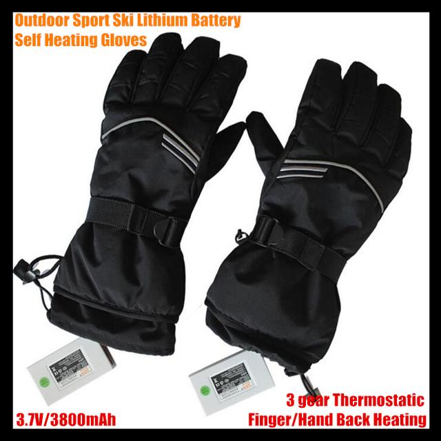 Ga0630 deporte exterior pistas USB batería de litio eléctrica calefacción guantes del dedo / de mano caliente de nuevo, 3 engranaje caliente termostática 6 - 12 h