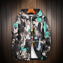 Mens Coat Printing Hooded Jacket Double jacket Plus Size S- 6XL 7XL 8XL