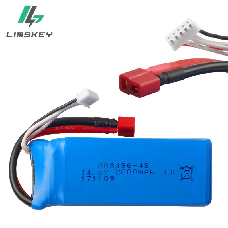 14.8V <font><b>2800mah</b></font> 30C RC <font><b>Lipo</b></font> Battery for FT010 FT011 RC boat <font><b>4s</b></font> Battery RC Helicopter Quadcopter 14.8 v Battery 803496 - <font><b>4s</b></font> 30c image