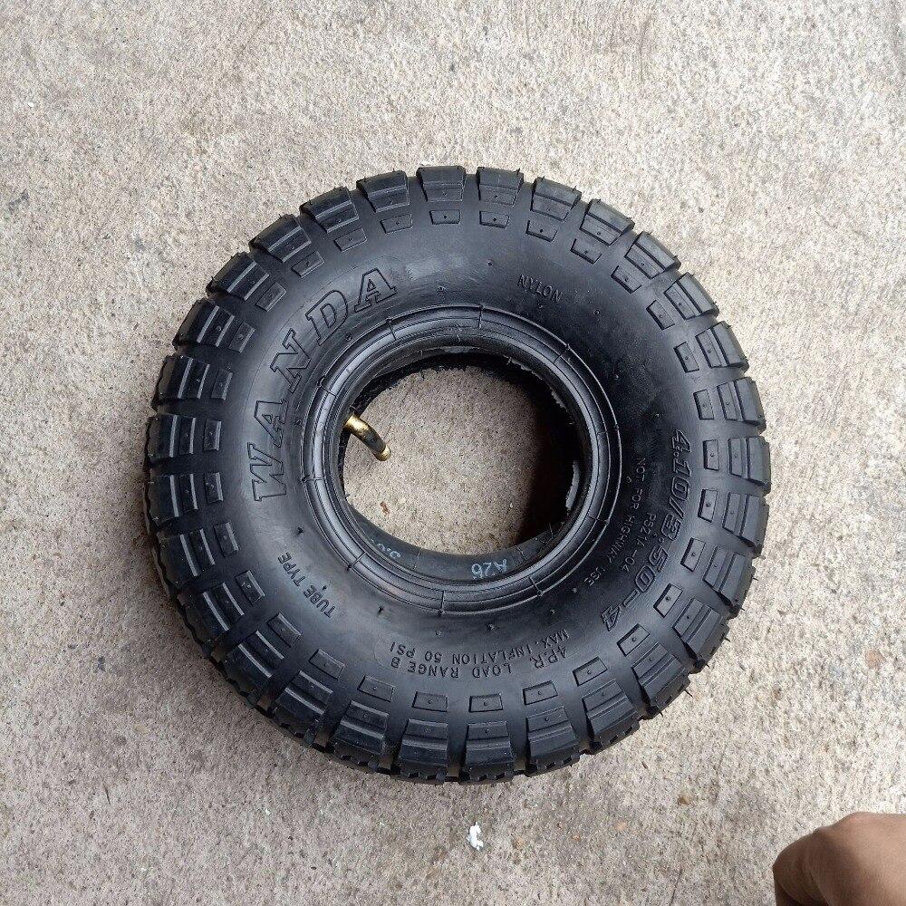 GOOD 4.10/3.50-4 410/350-4 rubber tire ATV Quad Go Kart 47cc 49cc Chunky 4.10-4 Tire inner tube 3.50-4 4