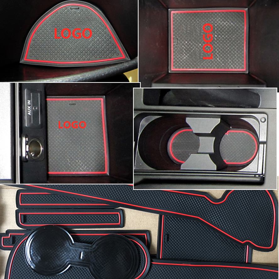 Image 2 - Anti Dirty Pad For Mazda 3 BK 2003 2004 2005 2006 2007 2008 2009 MK1 MPS Door Groove Gate Slot Coaster Anti Slip Mat 5 PCS-in Anti-Slip Mat from Automobiles & Motorcycles