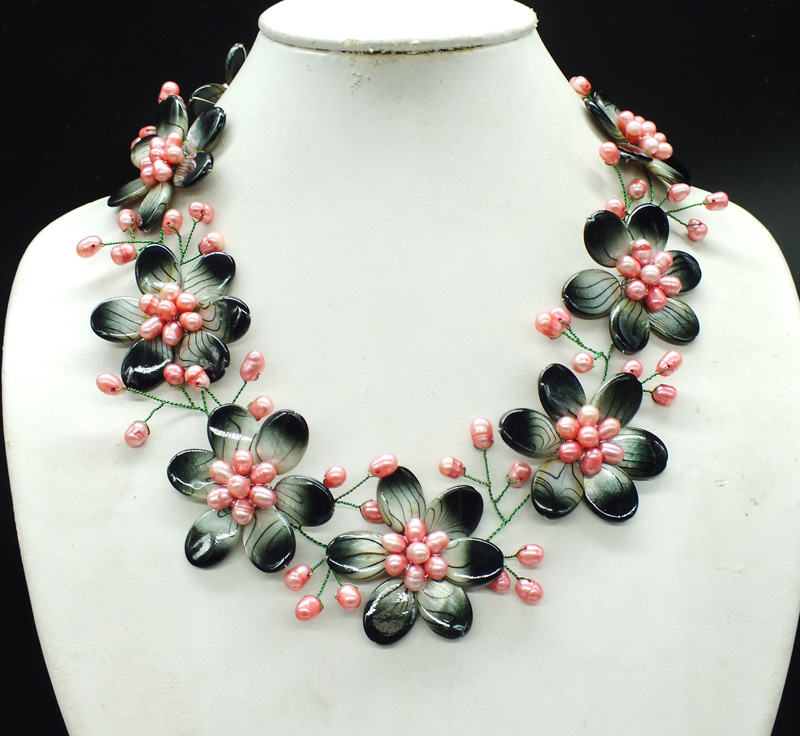 NO 218 Goodness price preferential benefit Shell pearl Flower Necklace last necklace