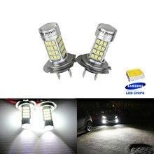 ANGRONG 2x H7 SAMSUNG 54 SMD High Power LED Bulb Headlight Daytime Fog DRL Light Lamps