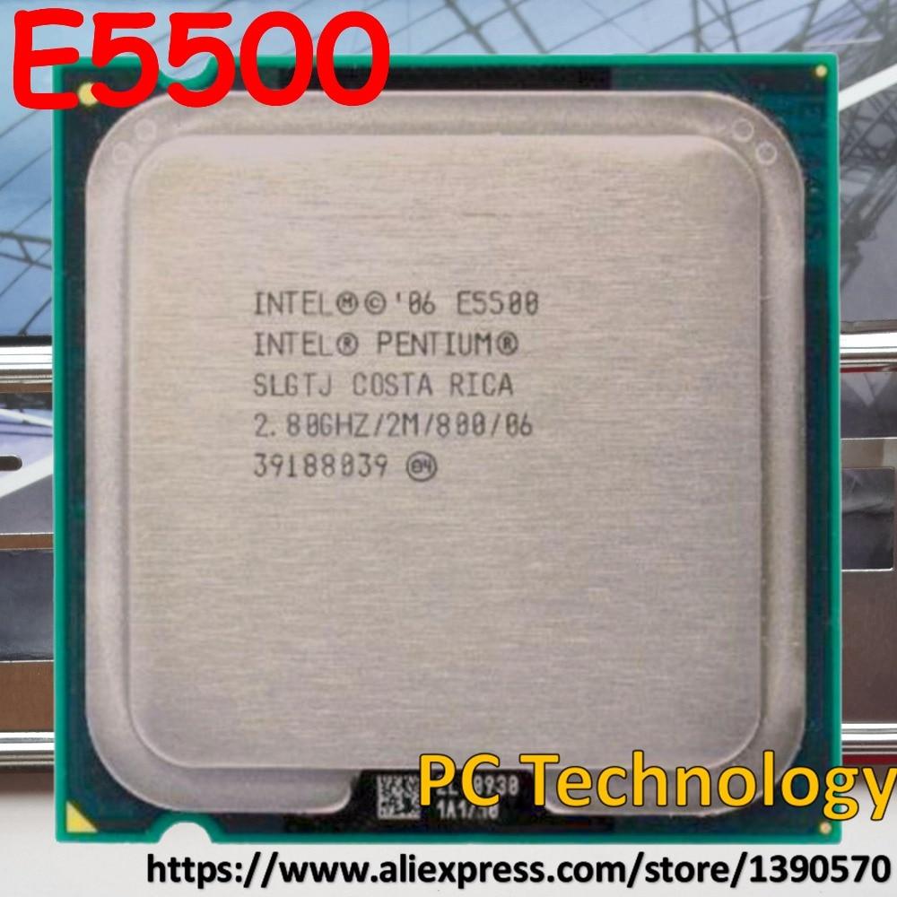 Original Intel Pentium CPU E5500 2.8 ghz 2 mb LGA775 processador CPU de Desktop Frete grátis (enviar para fora dentro de 1 dia