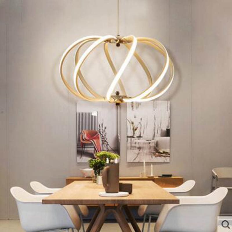 Led Postmodern Acrylic Chandelier Restaurant Light Living Room Bar Table Dining Table Iron Three Small Chandelier Buy Now Ceiling Lights & Fans