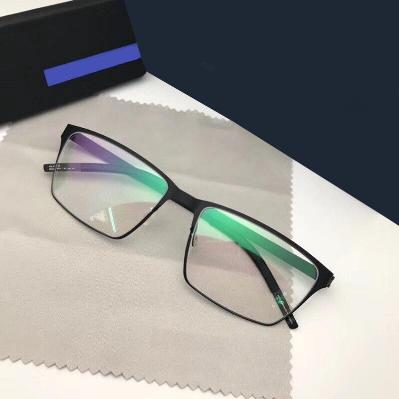 Super Lightweight Men's Retro Rectangle Glasses Optical Prescription Titanium Glasses Frame Men Spectacles Oculos De Grau