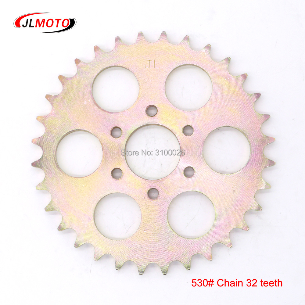 ATV 32T Sprocket Fit for China 150CC 200CC 250CC 530# Chain Drive China UTV Go Kart Buggy Quad Bike Scooter Motorcycle Parts