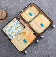Travel Storage Bag Suit Travel Essential Luggage Bags Clothing Clothing Finishing Bag 6 Piece Suit Household