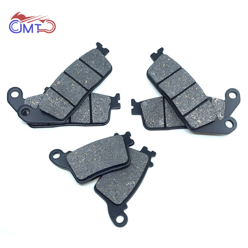 For <font><b>Honda</b></font> <font><b>Hornet</b></font> <font><b>600</b></font> CB600F 2007-2017 CB <font><b>600</b></font> F Front Rear Brake Disc Pads Set Kit image