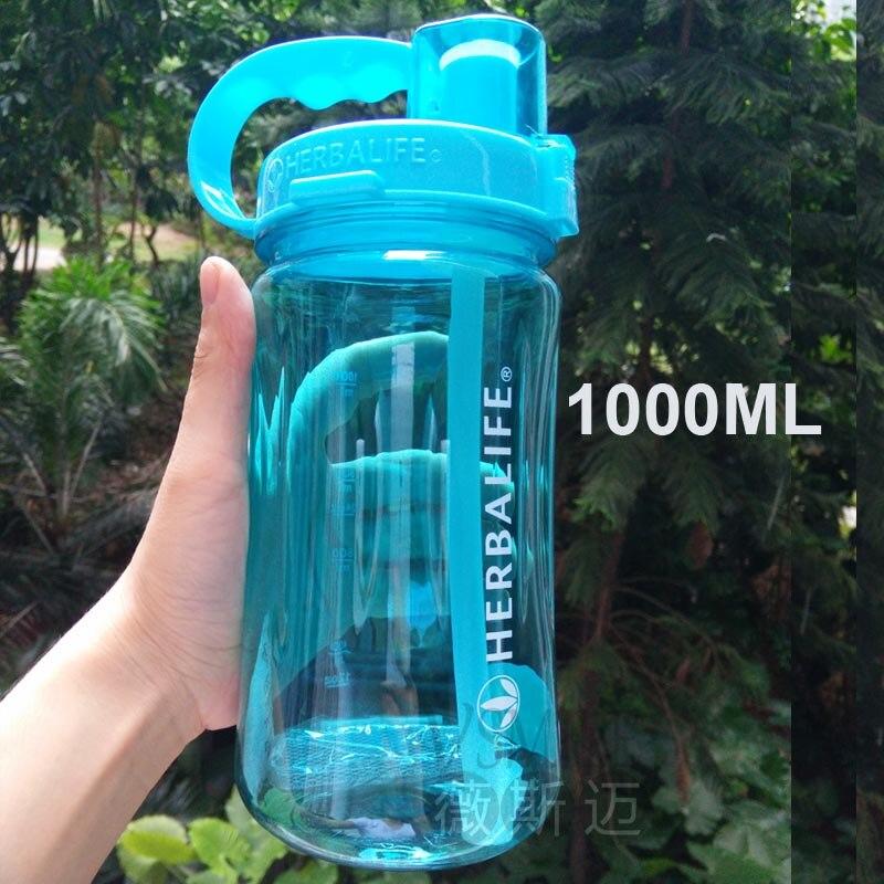 الجملة 6 قطعة lL/2 LLarge قدرة هرباليفي العلامة التجارية 1000 مللي المياه زجاجة مانعة للتسرب البلاستيك الفضاء مع حزام القش الموردين-في زجاجات مياه من المنزل والحديقة على  مجموعة 3