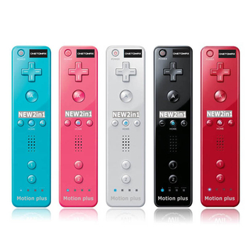 2 in 1 Motion Plus Inside Remote Controller for Nintendo Wii Console Remote Motionplus for Wii Game Accessories for Nintendo