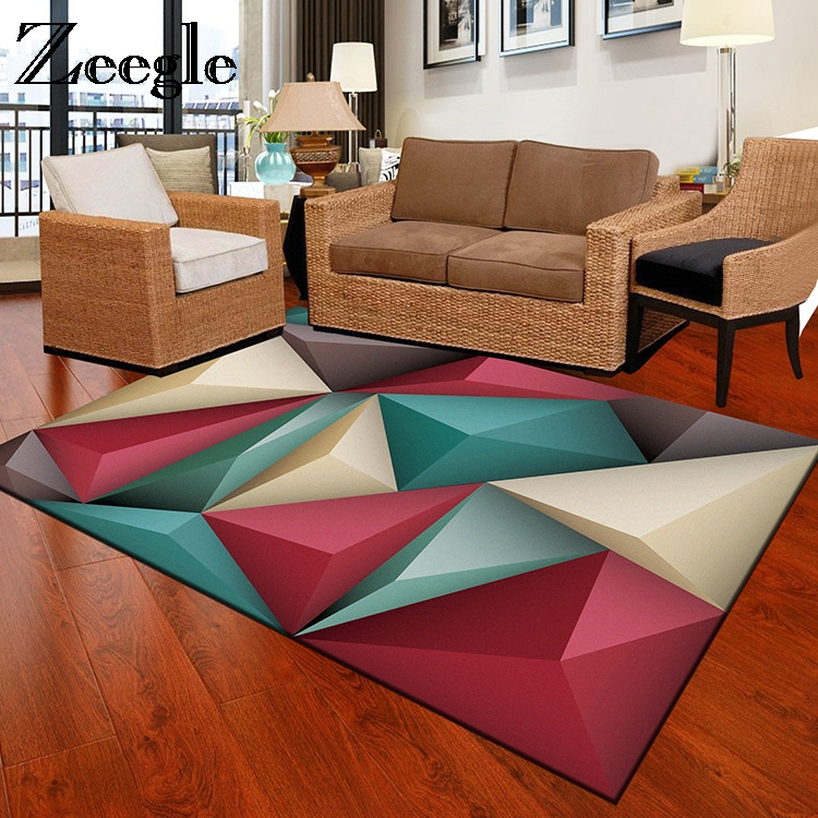 Zeegle Watercolor Carpets For Living Room Non-slip Kids Room Carpet Office Chair Floor Mats Flannel Bedroom Carpet Bedside Rugs