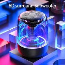 C7 portable Bluetooth5.0 speaker colorful rhythm flashing light 6D surround bass Listen 12H TFcard play Handsfree call Subwoofer