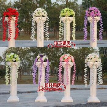 The wedding arrangement wedding diameter flower bouquet  wedding decoration flower for road lead roman column 4pcs/lot