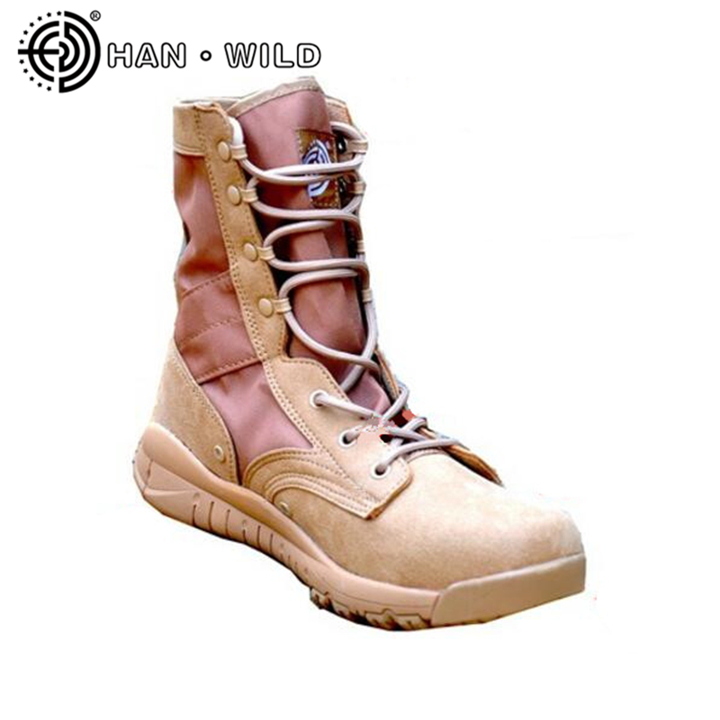 Jungle/Desert Boots For Military Enthusiasts Ultralight Military Leather Boots Men's Tactical Desert Combat Boots Men Army Shoes combat boots desert tan lug sole military boots page 4