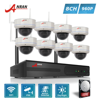 ANRAN Security P2P 8CH WIFI 30 IR Vandal Proof Dome Video 1 3 MP 960P IP