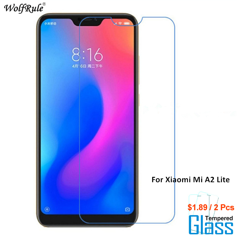 Galleria fotografica 2PCS For Glass Xiaomi Mi A2 Lite Screen Protector Tempered Glass For Xiaomi Mi A2 Lite Glass Phone Film For Xiaomi Redmi 6 Pro