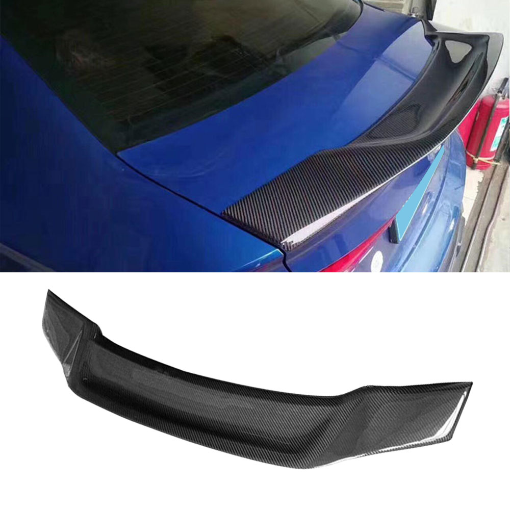 Carbon Fiber /FRP unpainted Rear Trunk Spoiler Lip Wings for Audi A3 Sline S3 Sedan 4 Door 2014 2018 Car Styling Parts|Spoilers & Wings| |  - title=