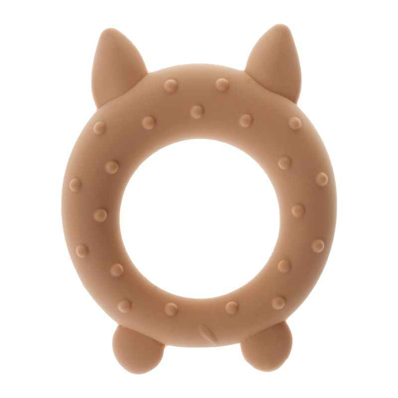 Baby Teether Food Grade Silicone Cartoon Pig Fox Teething Oral Care Newborn Pacifier Soother Chew Toys DIY Necklace Pain