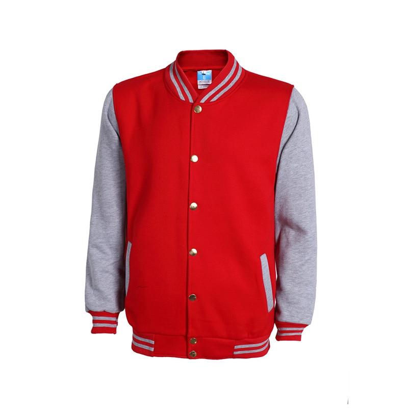 Neue Rote Baseballjacke Männer Veste Homme 2017 Herren Spring - Herrenbekleidung - Foto 2