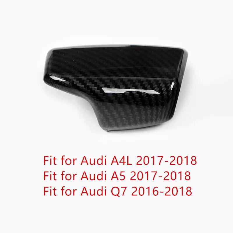 Pour Audi A4 A5 Q7 2016-2018 1 PC en Fiber de carbone ABS Chrome pommeau de levier de vitesse de voiture cadre garniture moulures accessoires de style de voiture