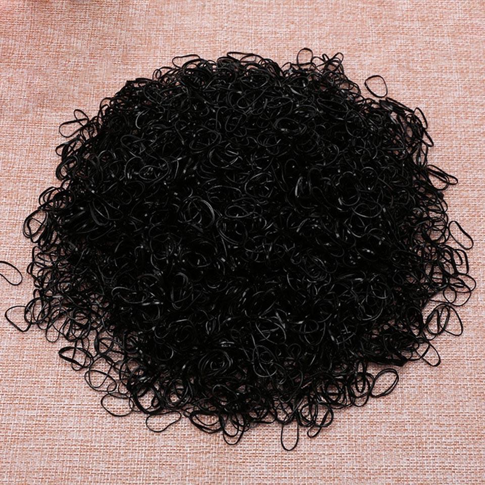 1000pcs Girls Hair Holders Rubber Band Elastic Hair Bands For Women Haar Hair Accessories gorgeous faux feather elastic hair band for women